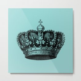 crown bue Metal Print