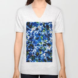 Berlin Stories: Untitled Blue Painting Unisex V-Neck