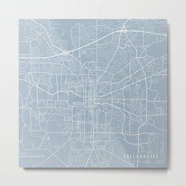 Tallahassee Map, USA - Slate Metal Print