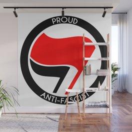 Proud Antifascist (white border) Wall Mural