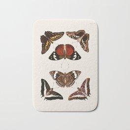 Vintage Butterfly Chart III Bath Mat