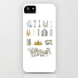 Barcelona with significant buildings iPhone Case