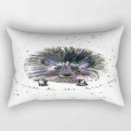 Today Will Be The Best Day Ever Hedgehog Rectangular Pillow