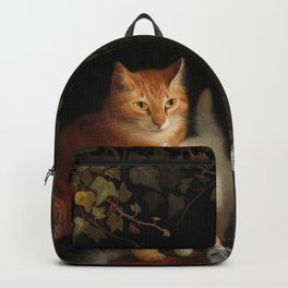 Mama Cat with Kittens Backpack