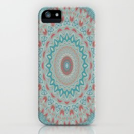 Tribal Medallion Teal iPhone Case