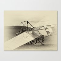 airplane Canvas Prints featuring Airplane by DistinctyDesign