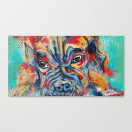 It's a Puppy Life Fo Real Canvas Print