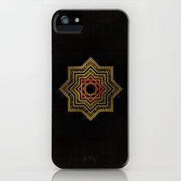 Golden Decorative Star of Lakshmi - Ashthalakshmi iPhone Case