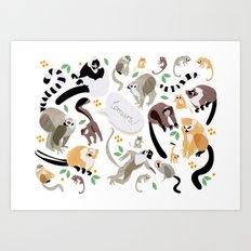 Lemurs! Art Print