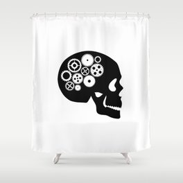 Steampunk - Skull Shower Curtain