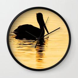 Bird - Brown Pelican - Study 2 Wall Clock