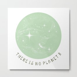 There Is No Planet B 2 Metal Print