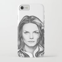 house md iPhone & iPod Cases featuring Dr. Cameron-House MD-Jennifer Morrison-Portrait by Olechka