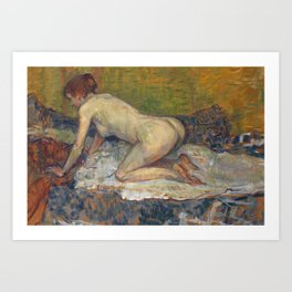 "Henri de Toulouse-Lautrec ""Crouching Woman with Red Hair"" Art Print"