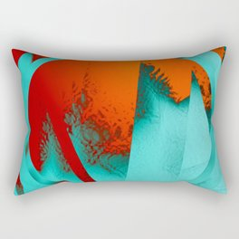 ice and fire Rectangular Pillow