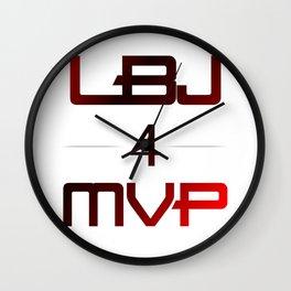 LBJ MVP Wall Clock