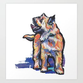 Fun Cairn Terrier Dog bright colorful Pop Art by LEA Art Print