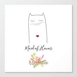 Maid of honor Canvas Print