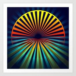 Sunset abstract 194 Art Print