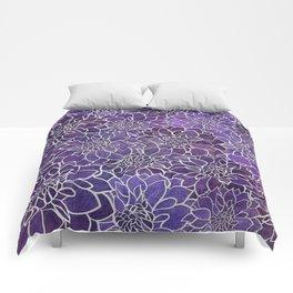 Dahlia Flower Pattern 3 Comforters