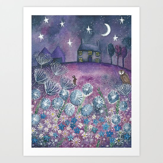 Watching the Stars Art Print