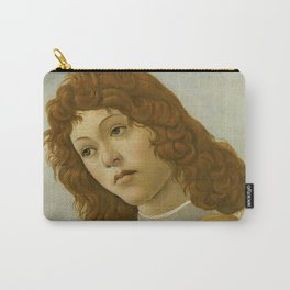 "Sandro Botticelli ""The Virgin and Child with Saint John and an Angel"" An angel Carry-All Pouch"