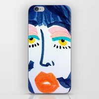 mod iPhone & iPod Skins featuring Mod Girl by Bouffants and Broken Hearts