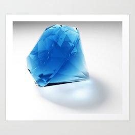 Diamond (blue) Art Print