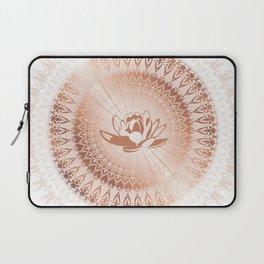 Rose Gold Lotus Mandala Laptop Sleeve