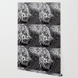 Slate Polynesian Tribal Threads Grunge Wallpaper