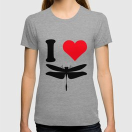 I Love Dragonflies Cool Animal Nature Lover T-Shirt T-shirt