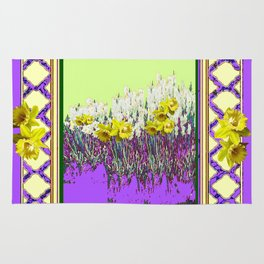 PANTENE ULTRA VIOLET PURPLE DAFFODIL GARDEN DECORATIVE ART Rug