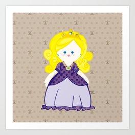 Blonde Princess Art Print