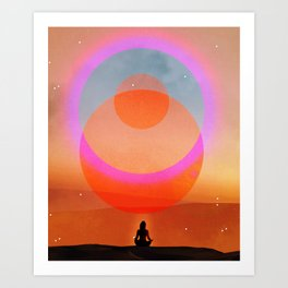 new moon musing Art Print