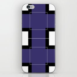 White Hairline Squares in Deep Purple iPhone Skin