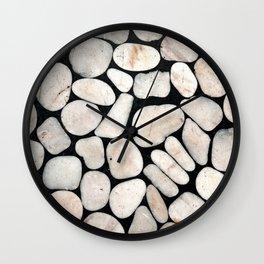 Light Stone Pattern Against Black Wall Clock