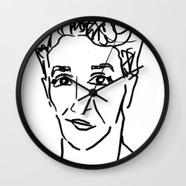 Rachel Maddow Outline Wall Clock