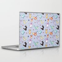 umbreon Laptop & iPad Skins featuring Eeveeloution Pattern by Sophie Eves