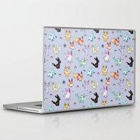 eevee Laptop & iPad Skins featuring Eeveeloution Pattern by Sophie Eves