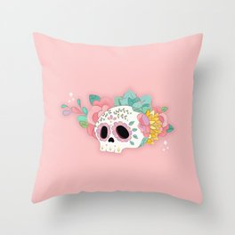Sugar skull for the Day of the Death Throw Pillow