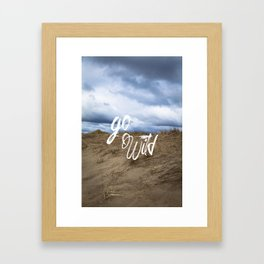 Go Wild Sand Dune Beach Print Framed Art Print