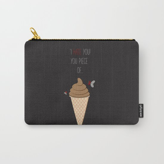 'Hate + Love! You piece of sweet!' Carry-All Pouch