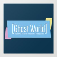 ghost world Canvas Prints featuring Ghost World by Nihilist