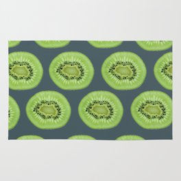 Kiwi pattern home decor interior design minimal cement polka dots graphite gray Rug