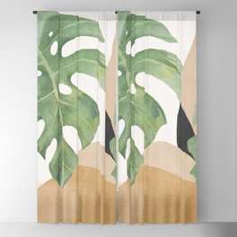 Abstract Art Tropical Leaves 3 Blackout Curtain
