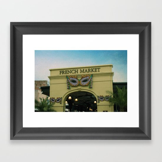 French Market Framed Art Print