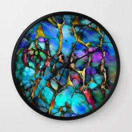 Colored Tafoni 2 Wall Clock