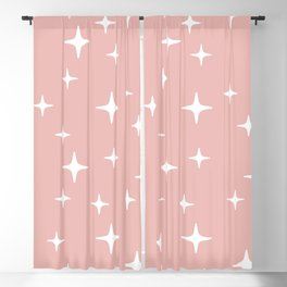 Mid Century Modern Star Pattern 443 Dusty Rose Blackout Curtain