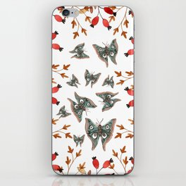 Autumn ith butterflies iPhone Skin