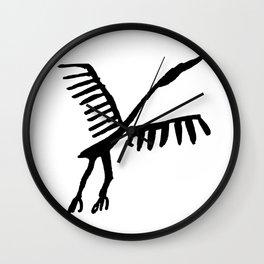 Rock Art Stork ancient times bird animals flay black Wall Clock